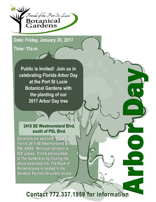 Arbor Day at the PSL Botanical Gardens