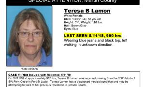 Police searching for Missing and Endangered 70 year old Port St. Lucie woman