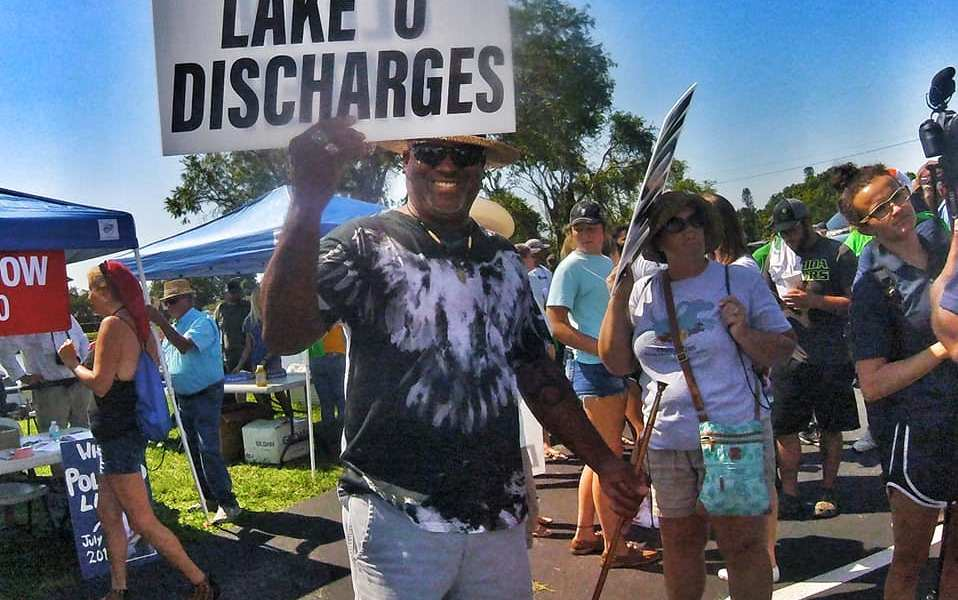 photo by Jennie Pawlowsky Save our fisheries! East meets west in Clewiston