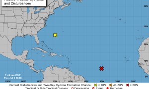 NHC monitoring two tropical disturbances