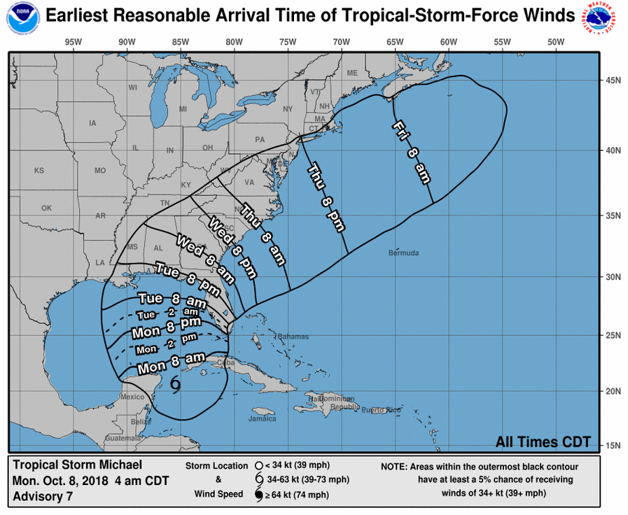 Tropical Storm Michael