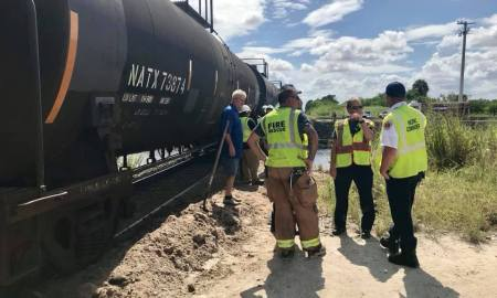 Possible fatality after train hits dump truck in St. Lucie County