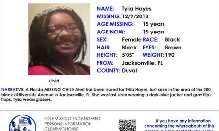 Missing Child Alert: 15-year-old black female from Jax