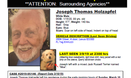 Port St. Lucie Police seeking help finding Missing Endangered 99 year old man