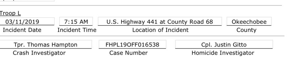26-year-old man killed in rollover crash in Okeechobee County