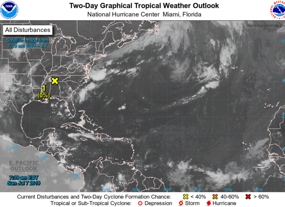 A Tropical Depression or Tropical Storm Might Form in the Gulf of Mexico