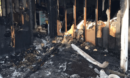Saturday morning residential fire, leaves PSL woman displaced and 30-year-old male arrested