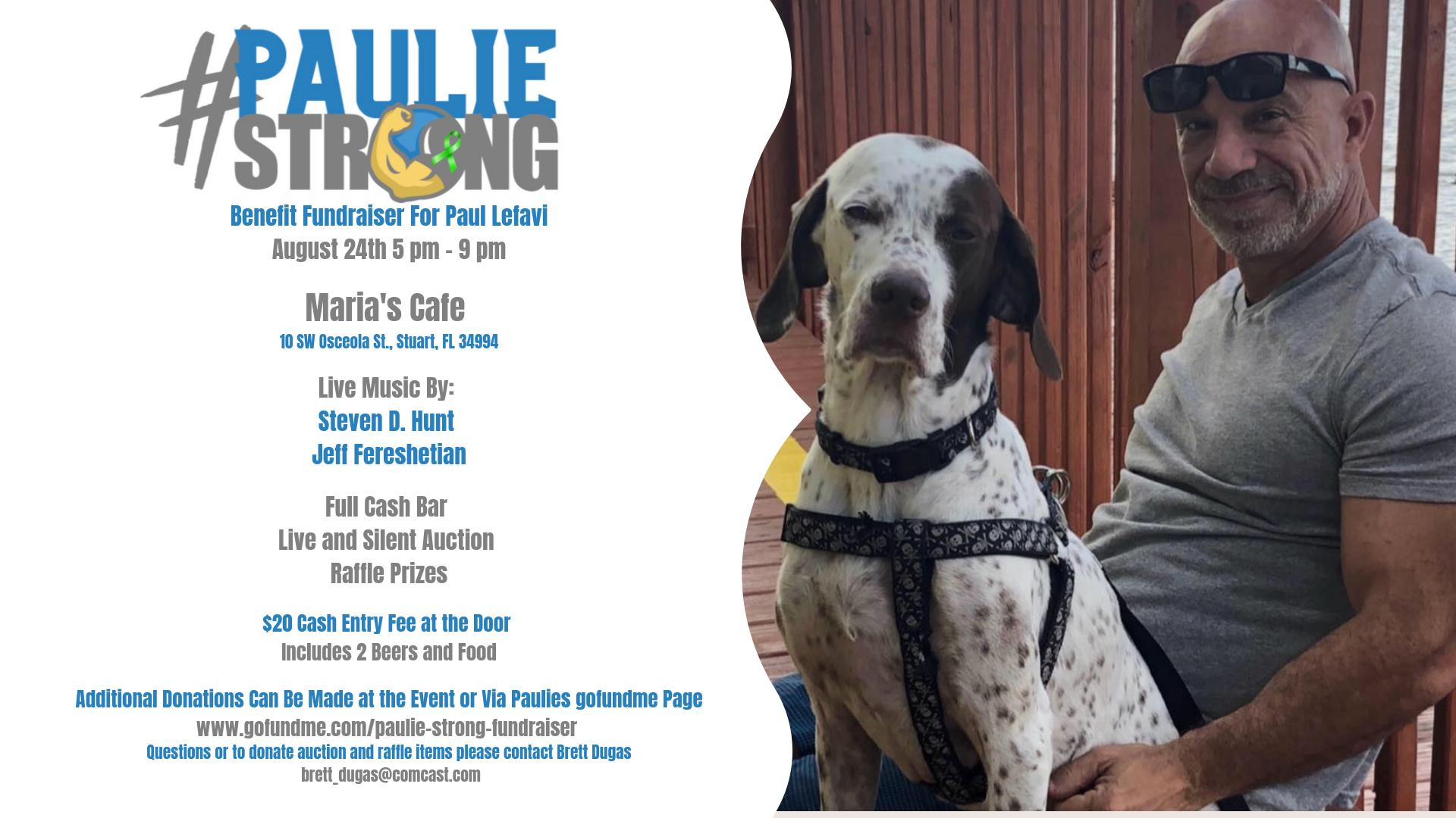 Paulie Strong Benefit Fundraiser for Paul Lefavi