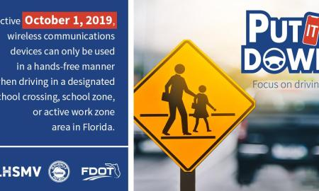 Put that cell phone down in school and work zones!
