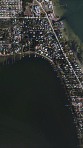 The Google Map photo shows the lagoons today just along the curve of North Sewall's Point. If you look closely, you will see them.