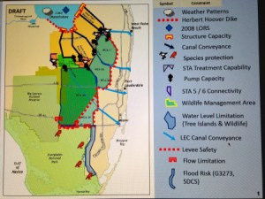 "Slide 1 of the SFWMD power point presentation ""Constraints to Sending Water South, 2015.)"