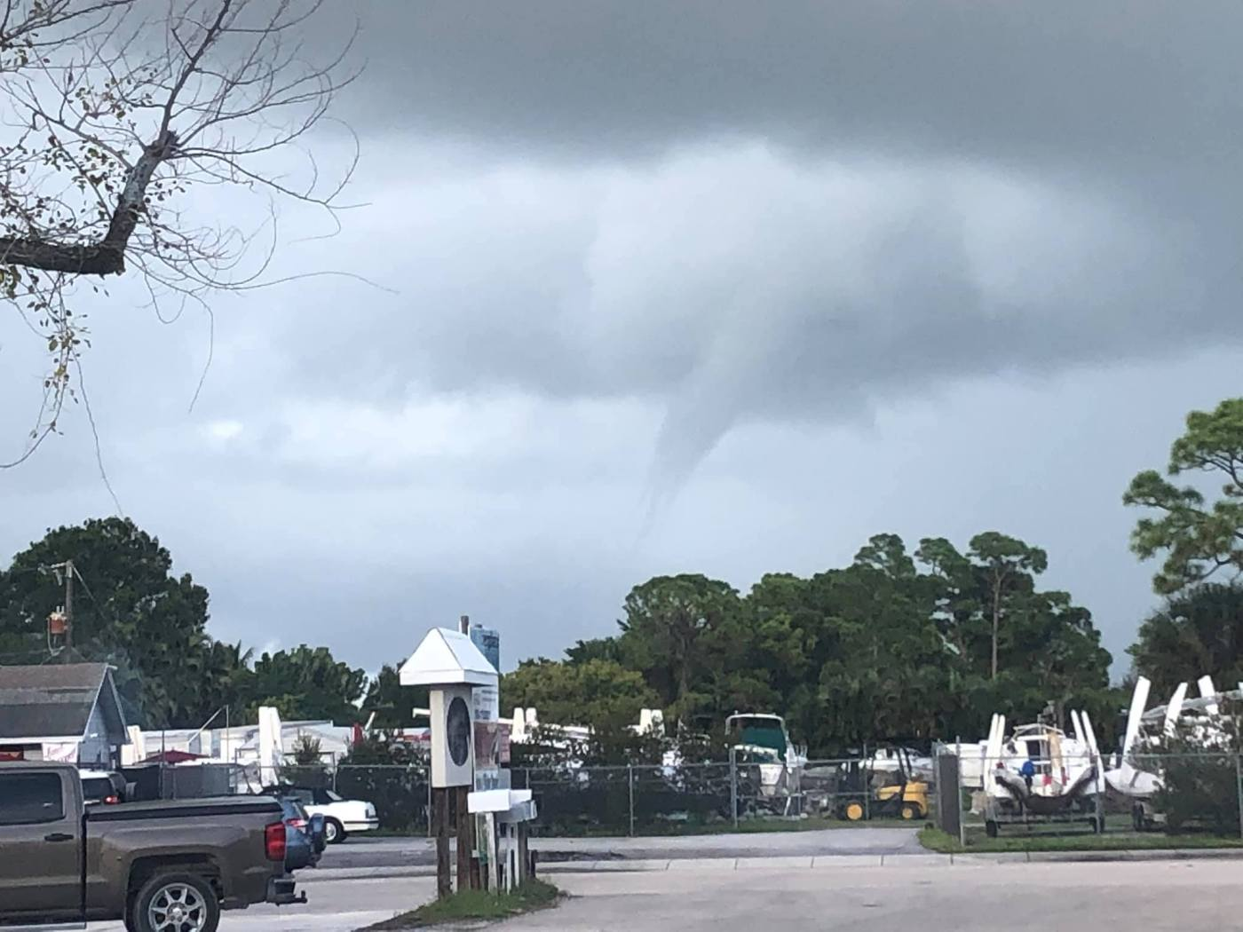 Tornado spotted in Martin County
