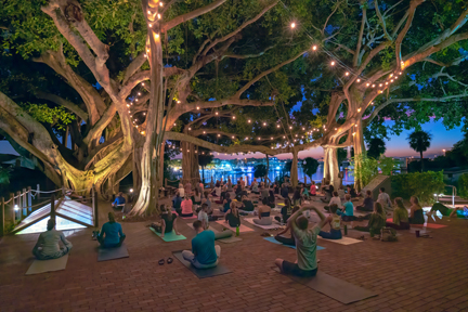 Twilight Yoga at the Light