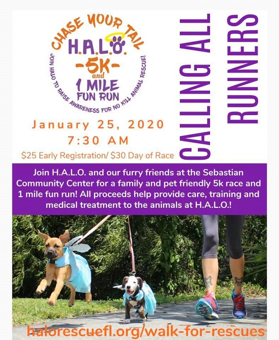 H.A.L.O.'s Chase Your Tail 5k and 1 Mile Fun Run