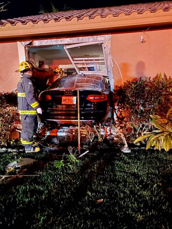  Vehicle crashed into a PSL house; Police are investigating