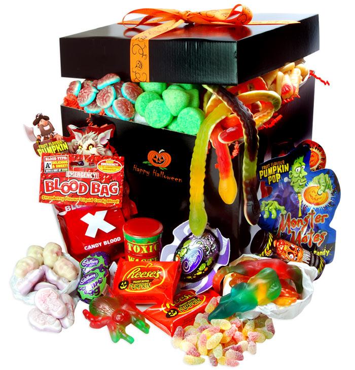 Large Halloween Sweet Hamper Treasure Island Sweets
