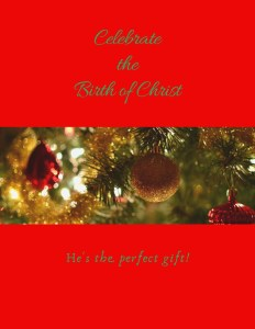 Celebrate the birth of Christ