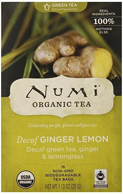 numi decaf ginger lemon green tea