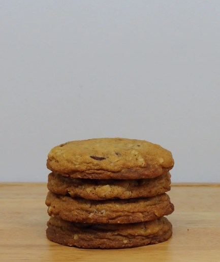 Oatmeal Chocolate Chip Cookie Stacked