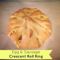 Egg & Sausage Crescent Roll Ring
