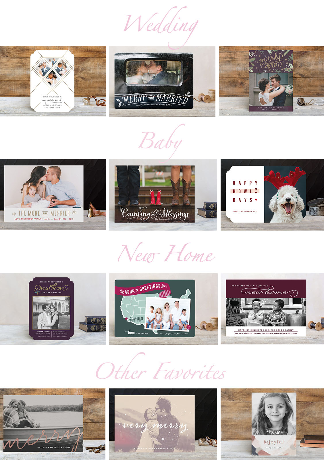 Newlywed Christmas Cards with Minted - Treats and Trends