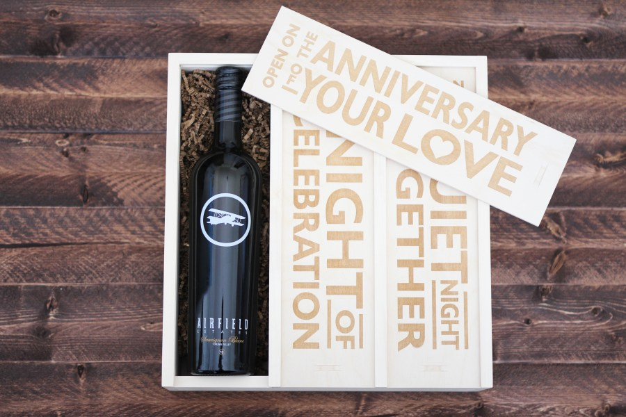 Wedding Gift Ideas, Anniversary Gift Ideas, UncommonGoods wine box, Treats and Trends