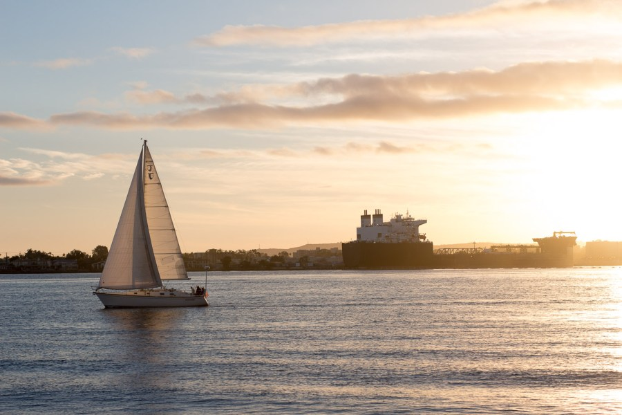 San Diego sunset, Seaport Village, travel blog, Treats and Trends