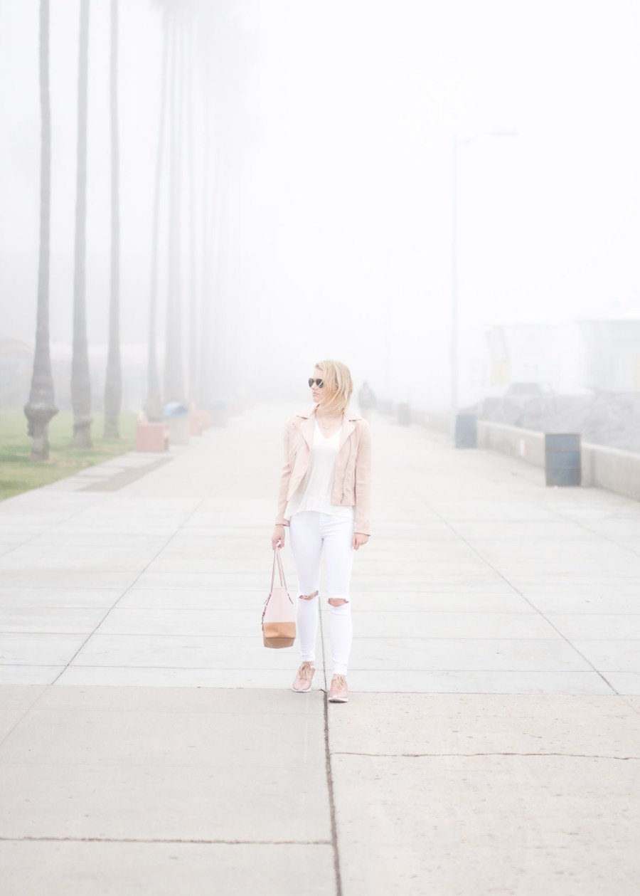 White and Blush Outfit, La Jolla, San Diego, fashion blog, Treats and Trends