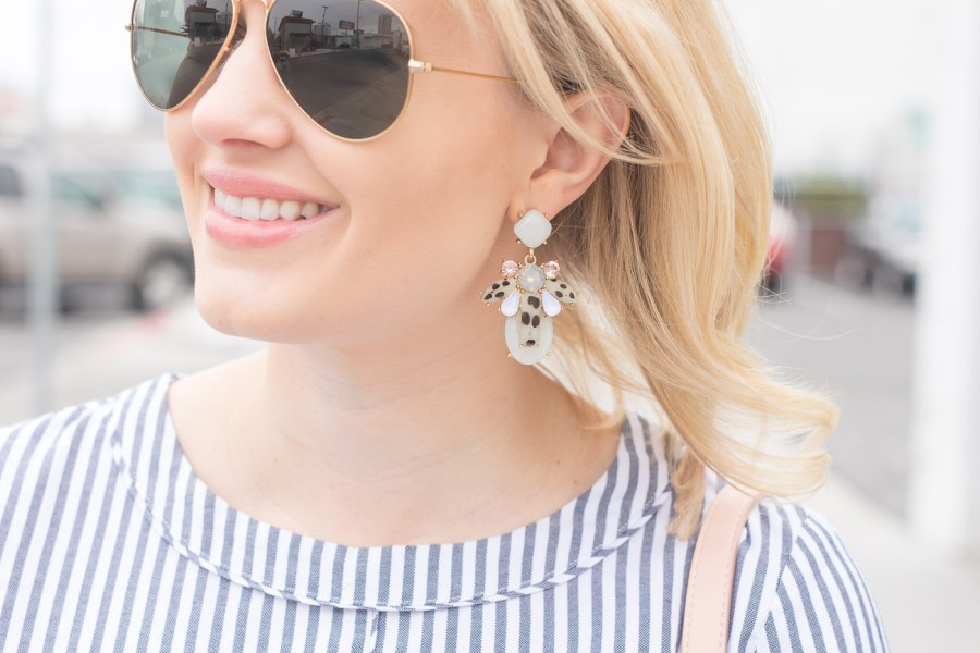 The Perfect Low Heels for Everyday Wear, Steve Madden Irenee sandal, fashion blog, spring outfit, Treats and Trends, BaubleBar earrings