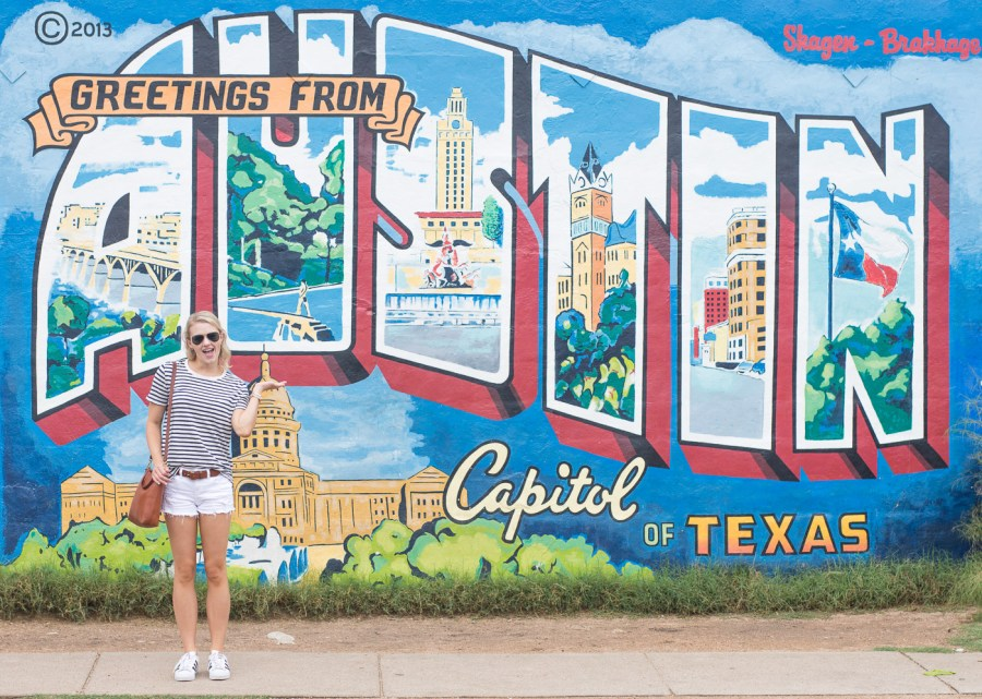 Austin, Texas Travel Guide, travel blogger, Greetings from Austin Mural