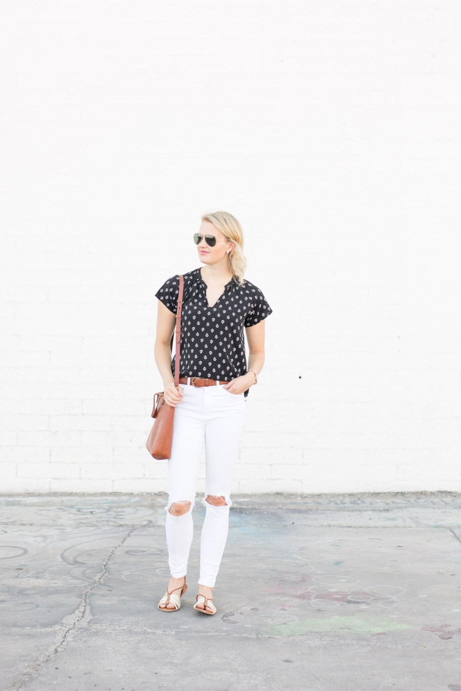 black and white outfit, summer outfit idea, Old Navy Ivory Coast Collection