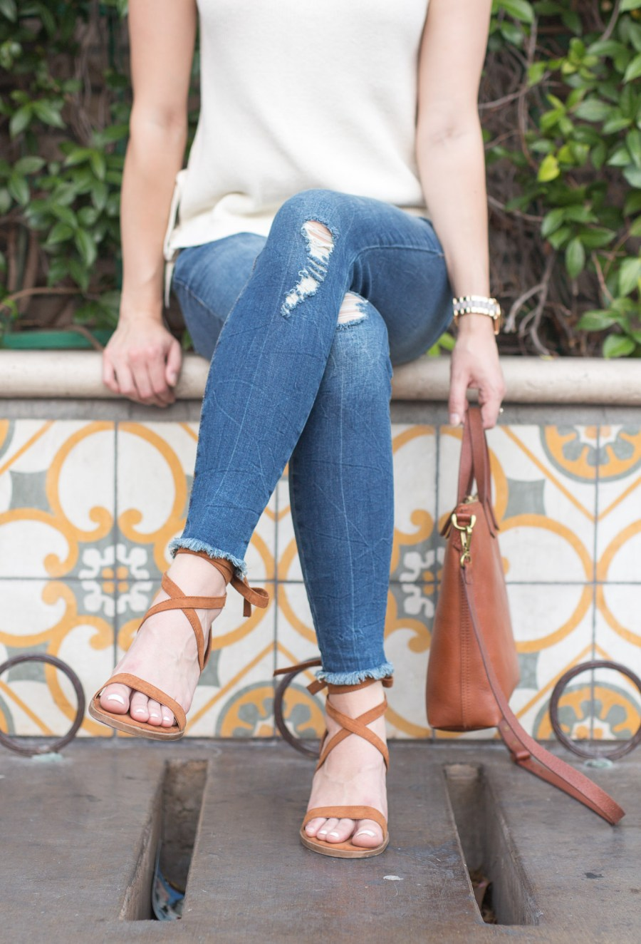 5 Tips For Looking Pulled Together in Distressed Jeans, STS blue emma skinny jeans, fashion blog, treats and trends