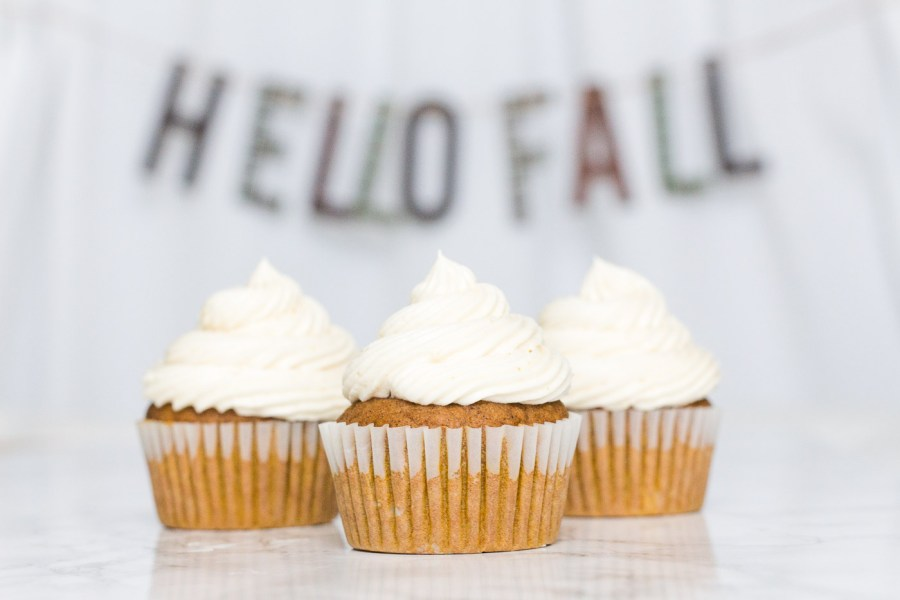 Pumpkin Cupcakes with Brown Butter Buttercream