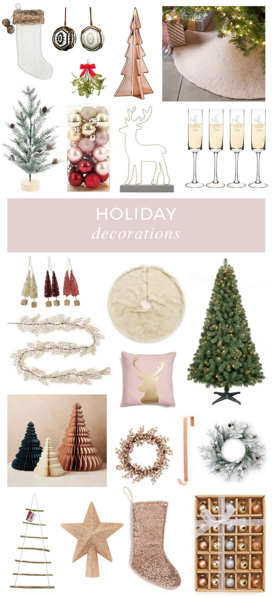 Trendy and Metallic Holiday Decorations