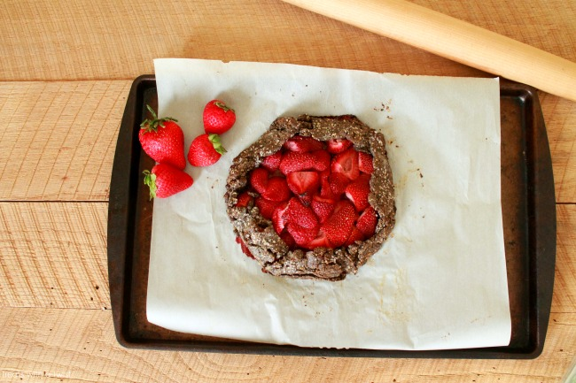 Roasted Strawberry Honey Galette 4