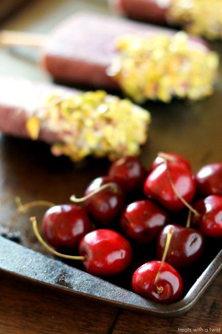 Cherry White Chocolate Popsicles 3