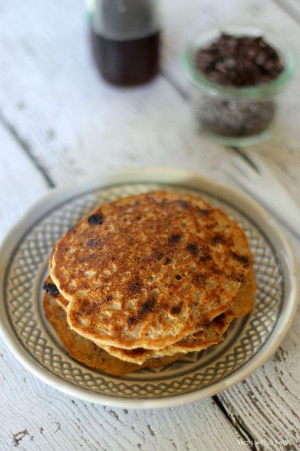 Chocolate Chip Cookie Pancakes // treatswithatwist.com