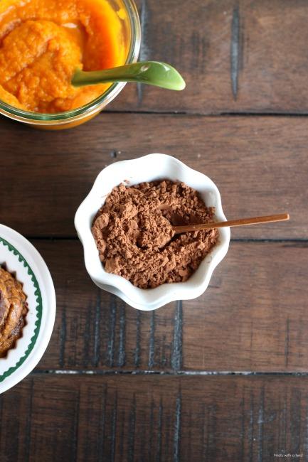 Chocolate Swirl Pumpkin Muffins // gluten free // treatswithatwist.com