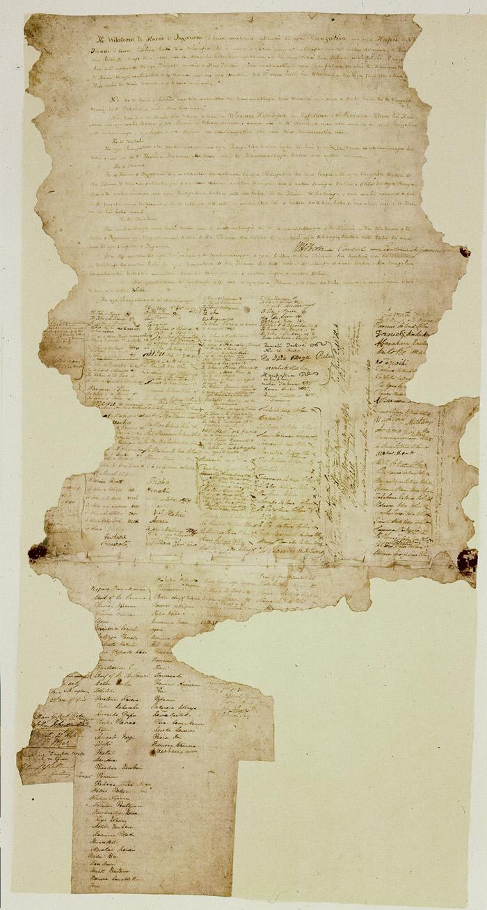 Version maorie du Traité de Waitangi