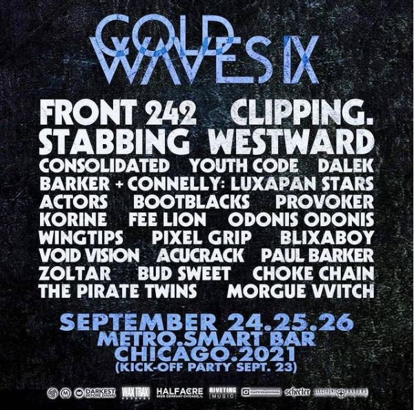 Front 242, clipping., Youth Code and more to play Cold Waves 2021 – Treble