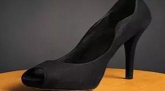 High heeled shoe