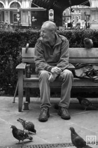 Man on Bench copyright Carl Byron Batson