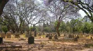 A war cemetary in Zimbabwe