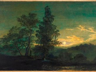 Moonlit landscape, circa 1808, Caspar David Friedrich (1774-1840)