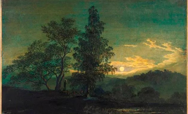 Moonlit landscape, circa 1808, Caspar David Friedrich (1774-1840)