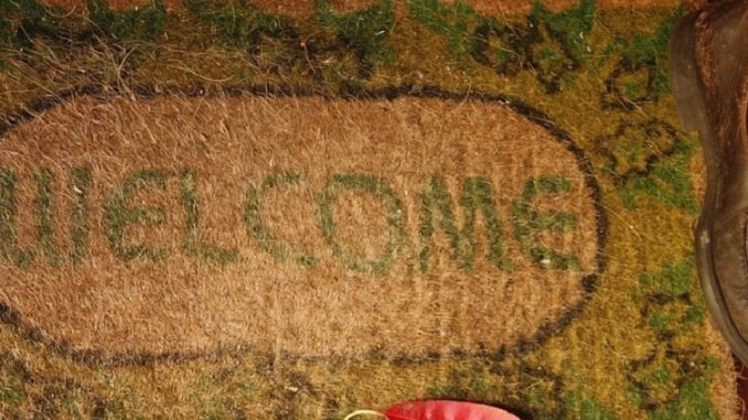 welcome mat, state visit