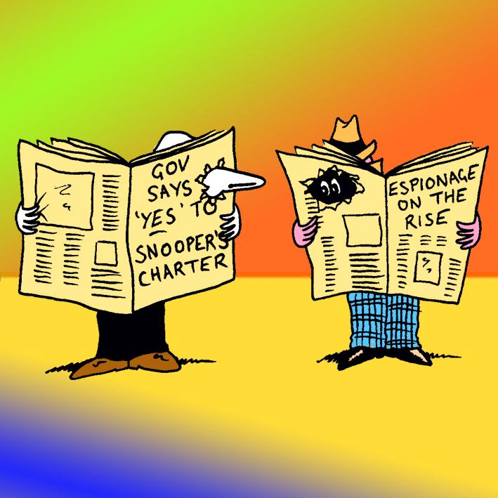 Espionage: Satirical Saturday Cartoon on Art by Alex Brenchley 2018