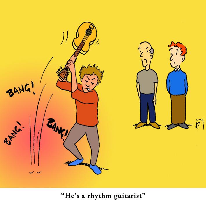 Rhythm: Satirical Saturday Cartoon on Art by Alex Brenchley 2019