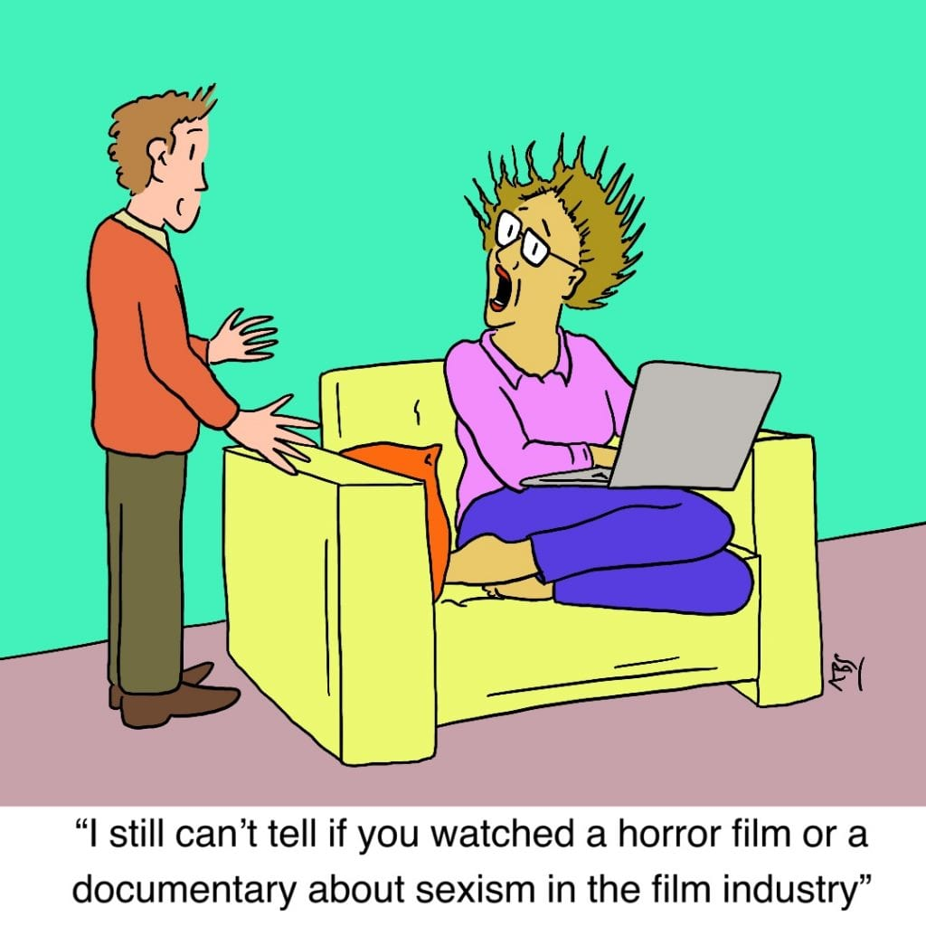 Shocked: Satirical Saturday Cartoon on Art by Alex Brenchley 2019