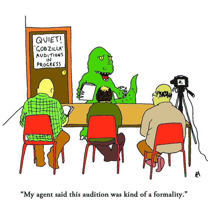 Godzilla: Satirical Saturday Cartoon on Art by Alex Brenchley 2019
